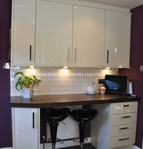 Odyssey Acrylic Cream Kitchen with 60mm Solid Laminate Tops
