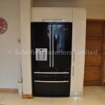 Odyssey Cream Acrylic Kitchen with Black Sparkle Quartz