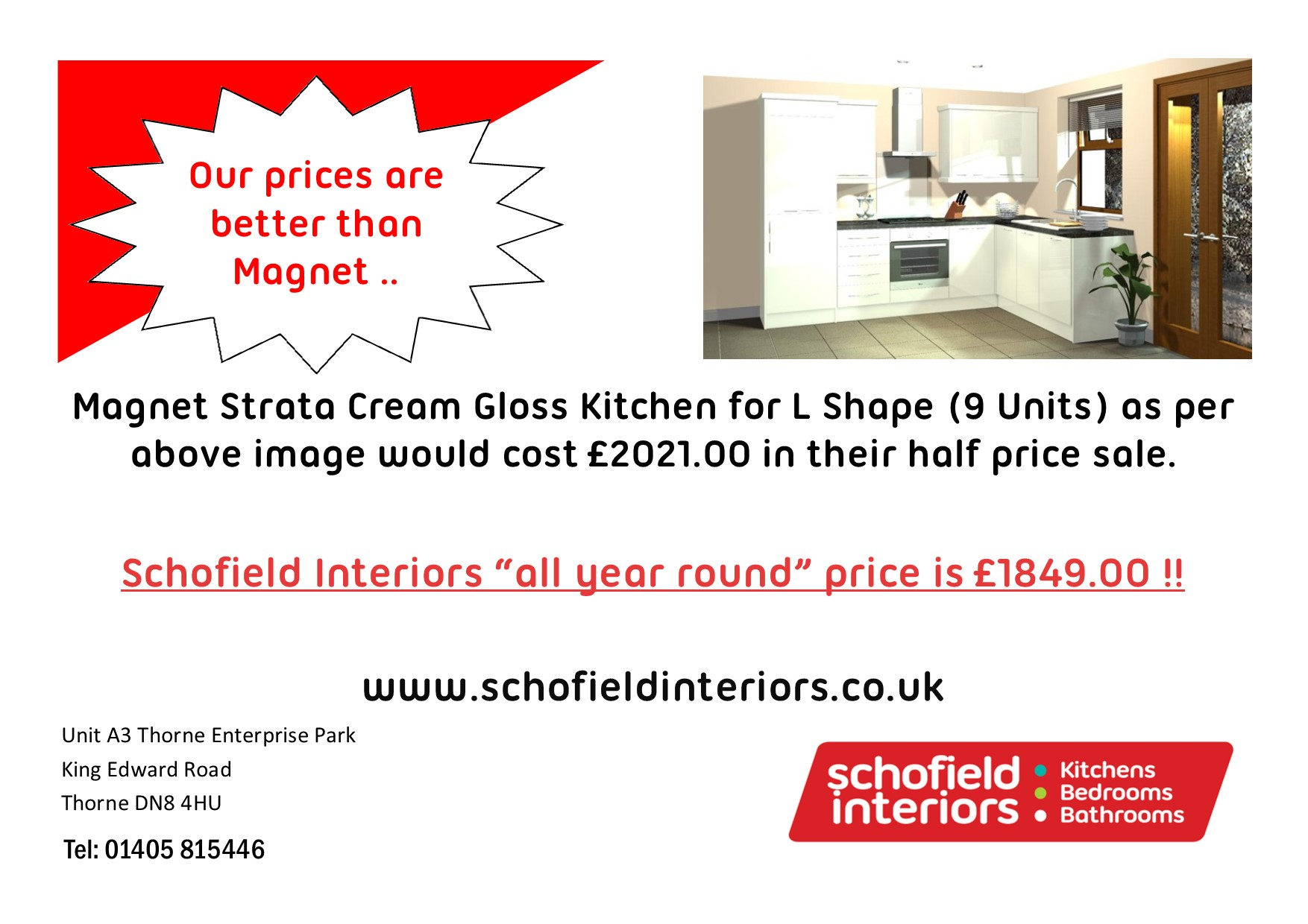 Our all year round prices beat Magnet\'s Sale Price !! – Schofield ...