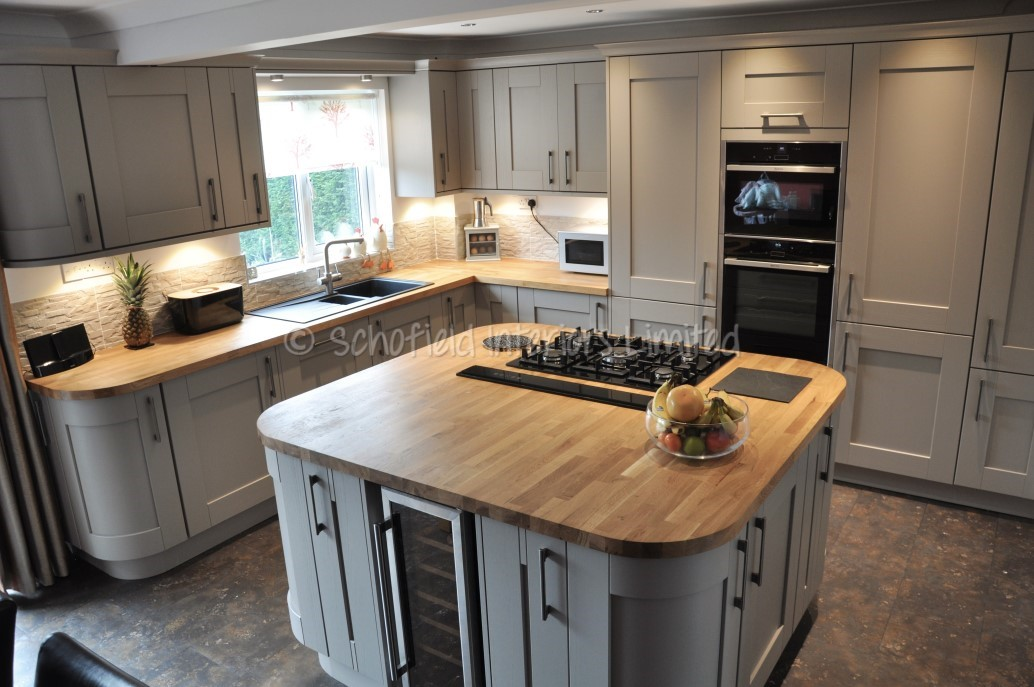 buckingham stone grey ash kitchen with solid oak. Black Bedroom Furniture Sets. Home Design Ideas