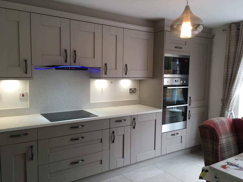 Clients Buckingham Cashmere And Stone Grey Shaker Kitchen